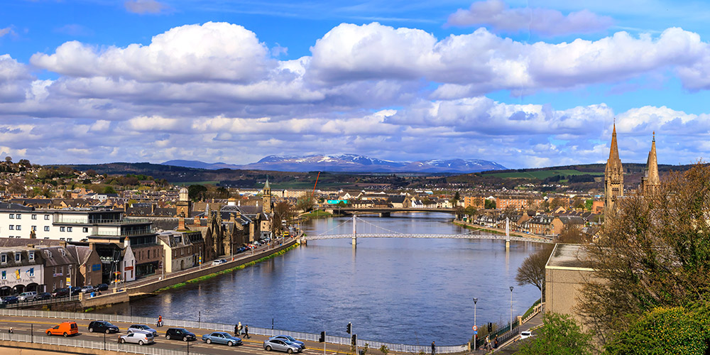Inverness Centre and River Ness